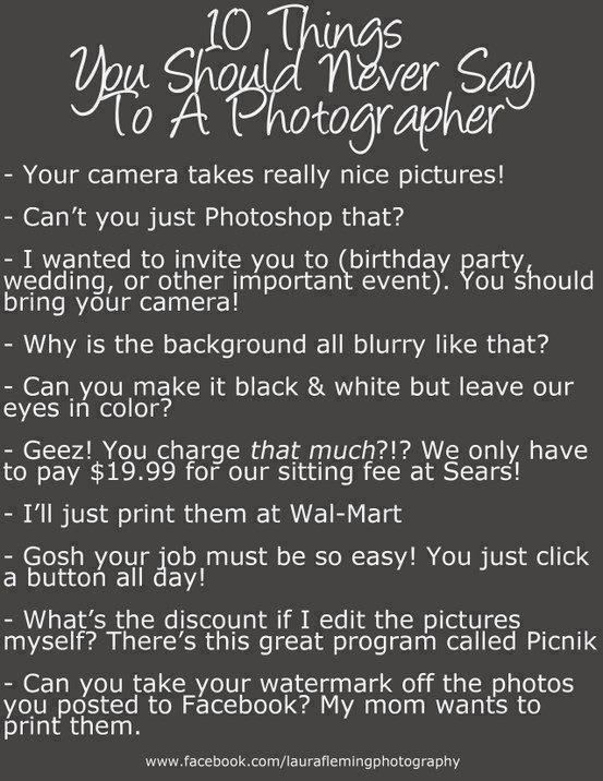 Photographer lol