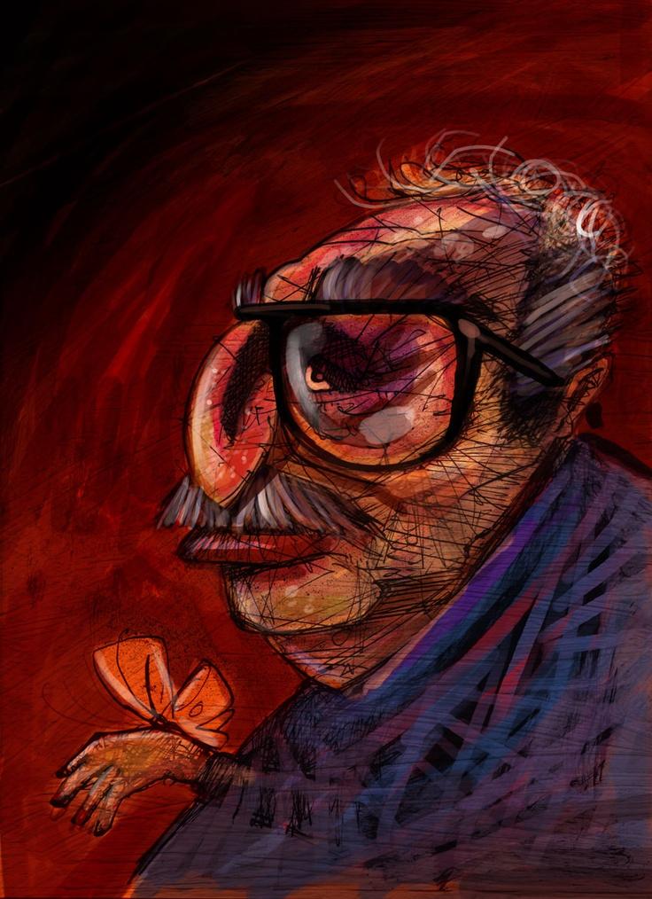 Gabo - Gabriel García Marquez - ilustración Freddy Leal