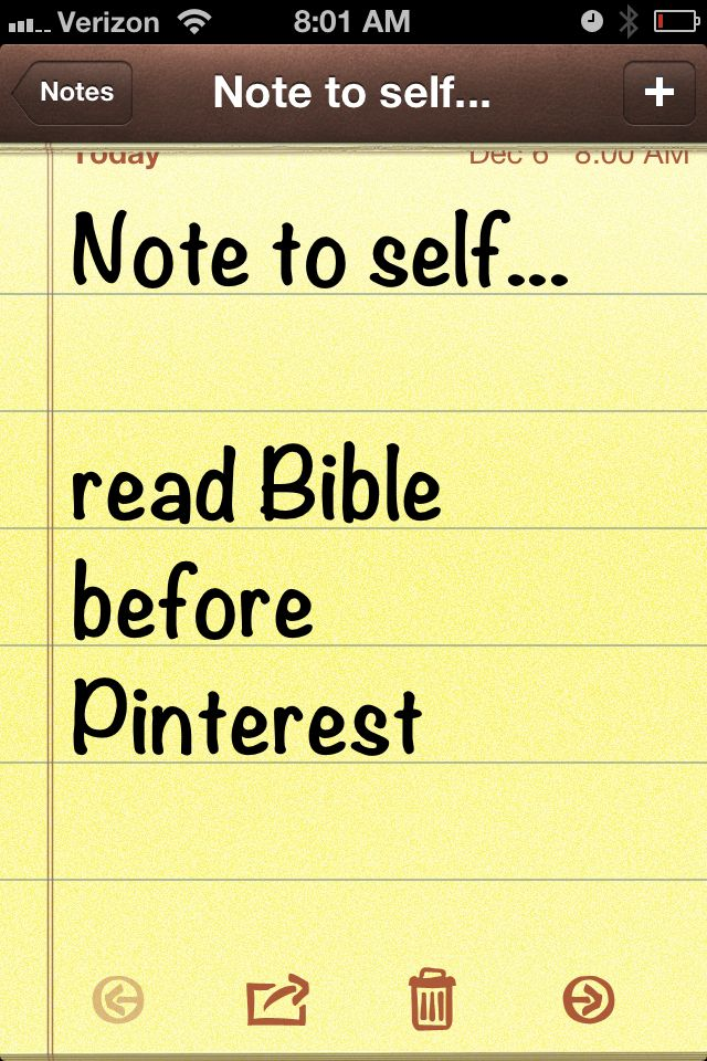 Note to self ... read Bible before Pinterest #Bible #QuietTime