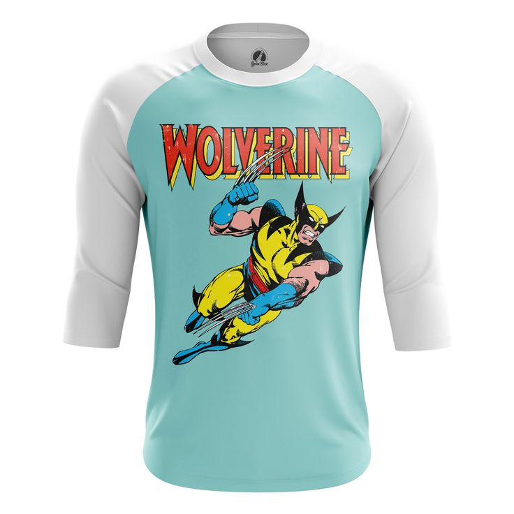 Marvelous Mens Raglan Wolverine Logan Xmen  – Search tags: