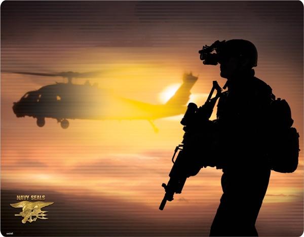 US Navy SEALs Siloutte