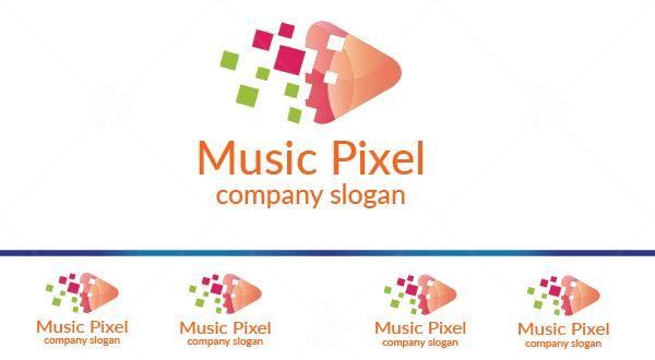 Music Pixel Logo