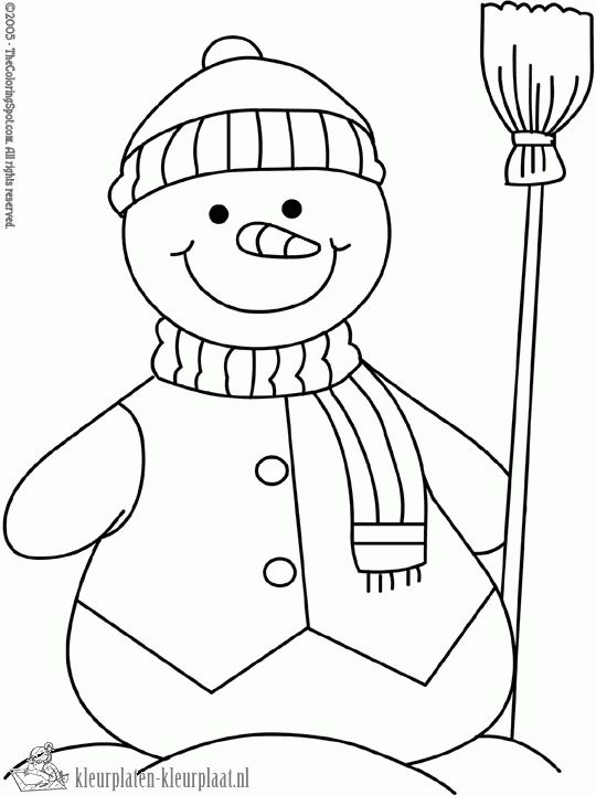 70 Best Coloring Snowman Images On Pinterest Coloring Snowmen