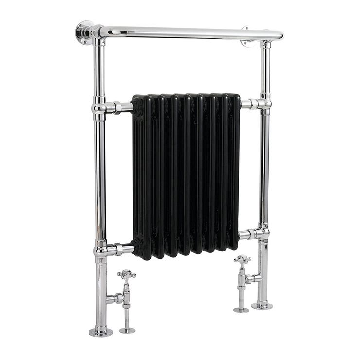 Hudson Reed Marquis Radiator Heated Towel Rail 960mm H x 665mm W Chrome/Black