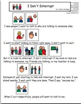 VISUAL SOCIAL STORY PACKET FOR CHILDREN WITH AUTISM: COMMUNICATION SET 1 - TeachersPayTeachers.com