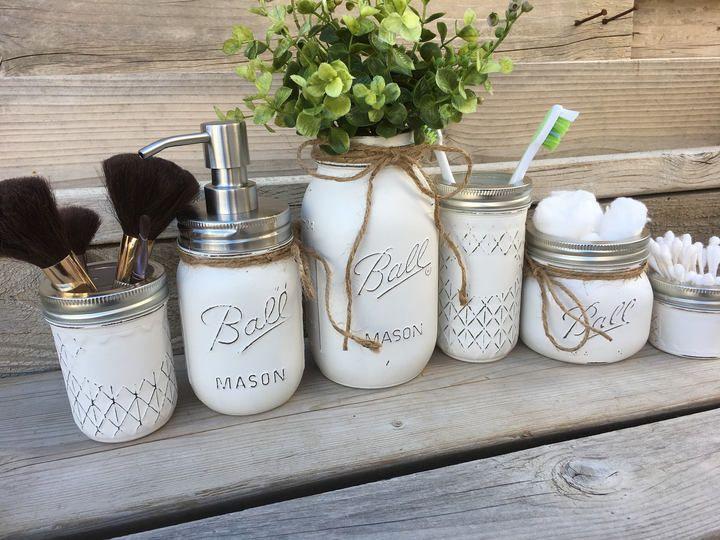 Best 25 Mason Jar Organizer Ideas On Pinterest Rustic