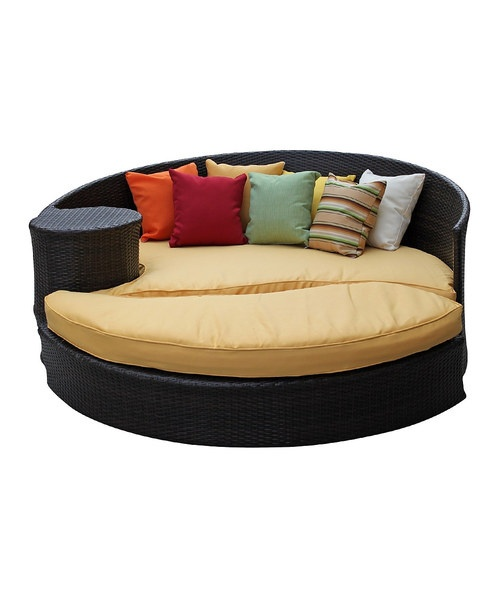 This versatile pairing incorporates striking, free-flowing shapes to add a distinctive touch to any deck or patio. Each piece has been crafted with weather-resistant materials ensuring it adds beauty and elegance to any outdoor oasis for years to come.Includes daybed and ottomanDaybed: 51'' W x 29'' H x 71'' DOttoman: 2...