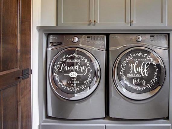 Lavanderia Lavare La Decalcomania Secca Lavatrice Asciugatrice