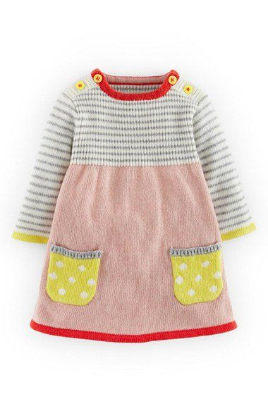 Mini Boden Sweet Knit Sweater Dress (Baby Girls) | Nordstrom