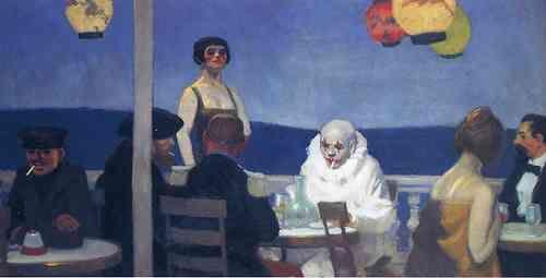 saloandseverine:    Edward Hopper, Blue Night, 1914