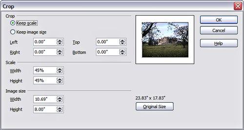 Rognage, redimensionnement, rotation et autres paramétrages — Apache OpenOffice Wiki