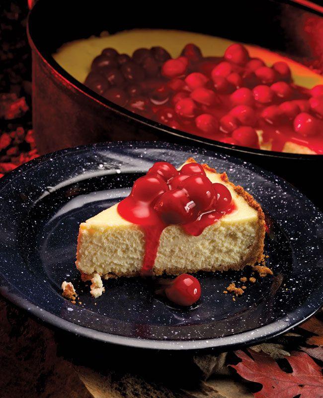 Dutch Oven Cheesecake #scoutingcuisine —Scoutingmagazine.org