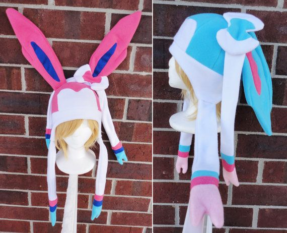 Sylveon and Shiny Sylveon Pokemon Hat  A winter nerdy by Akiseo, $35.00