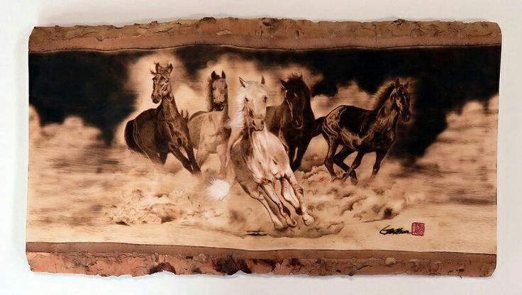 Horses - Pyrography