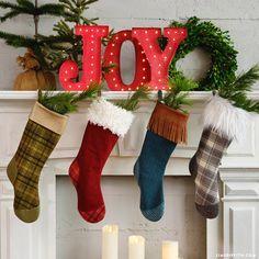 Flannel DIY Christmas Stockings