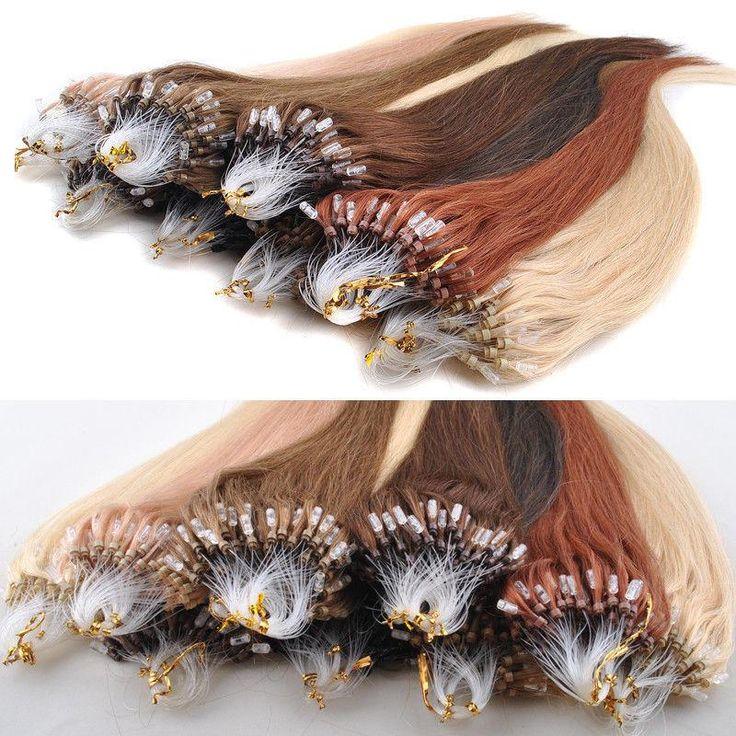 Luscious Micro Loop Links 100% Brazilian Remy Hair Extensions,Virgin Micro Beading Hair Wefts #DhgatePin