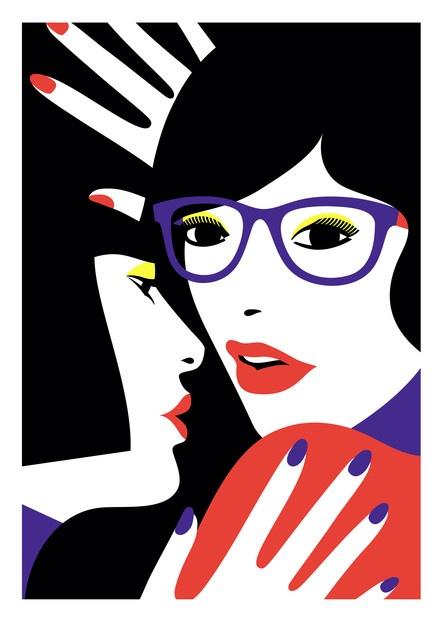 Cleo & Lea - by Malika FavreInspiration, Angel Favre, Vector Graphics, Art, Illustration, Colors Combinations, Graphics Design, Malikafavr