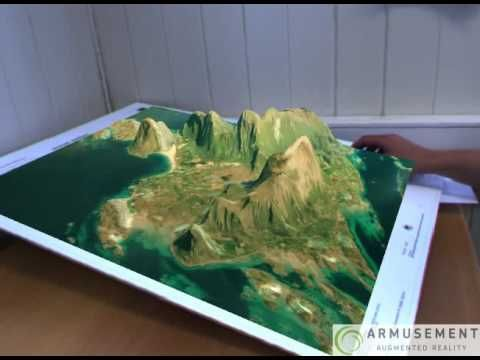 Augmented Reality GIS Maps - YouTube