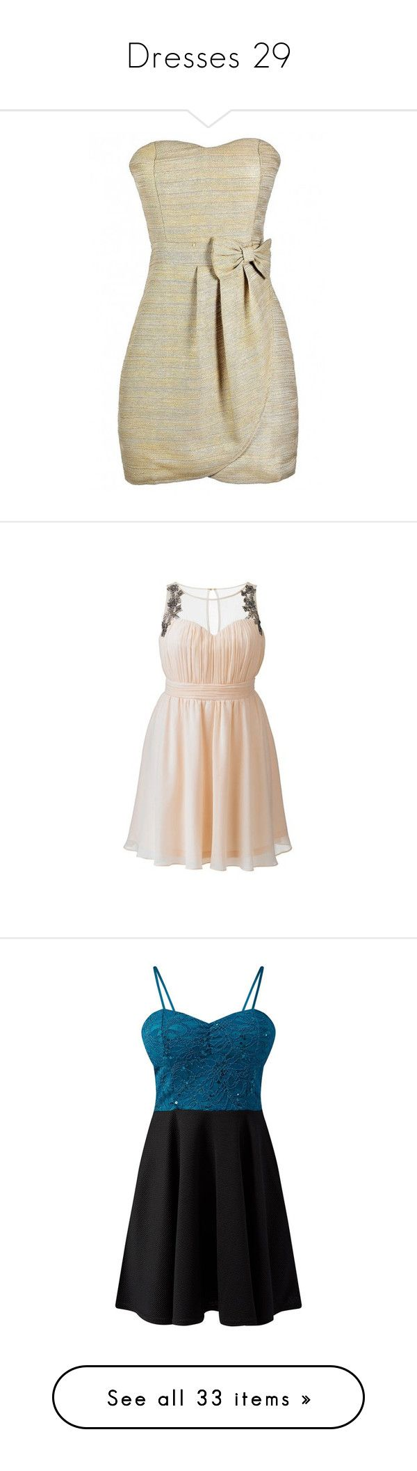 """""""Dresses 29"""" by katmccreery on Polyvore featuring dresses, strapless dresses, brown cocktail dress, gold sparkly dress, gold cocktail dress, sweetheart neckline dress, chiffon cocktail dresses, prom dresses, pink chiffon dress and pink cocktail dress"""