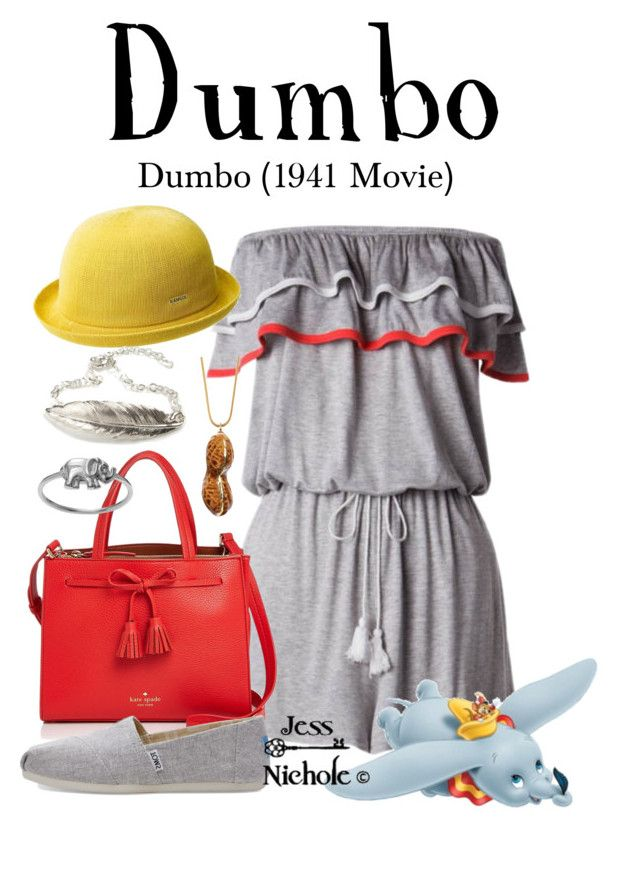 """""""Dumbo"""" by jess-nichole ❤ liked on Polyvore featuring kangol, Kate Spade, FrillyByLily, Tadam!, TOMS, Disney and Journee Collection"""