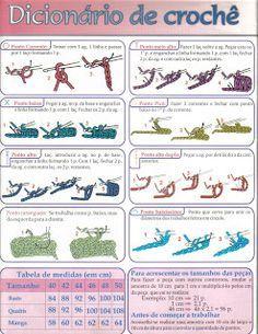 Edlamir crochê S2 Ibi sum ubi cogitatio mea est.: Pontos básicos do crochê ✿⊱╮Teresa Restegui http://www.pinterest.com/teretegui/✿⊱╮