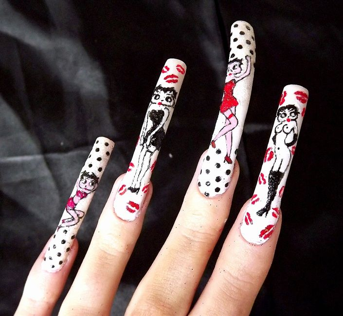 Betty Boop Nails: 428 Best Images About ALL ABOUT BETTY On Pinterest