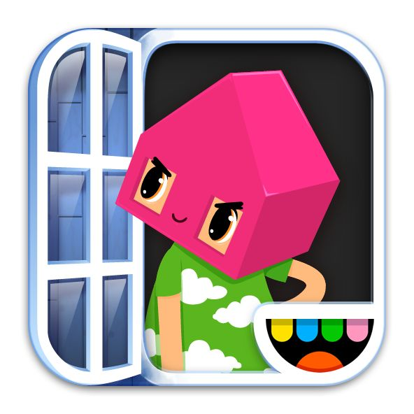 The Toca House icon by Toca Boca. http://itunes.apple.com/us/app/toca-house/id495680460?mt=8 #apps #kids #children #ipad #iphone