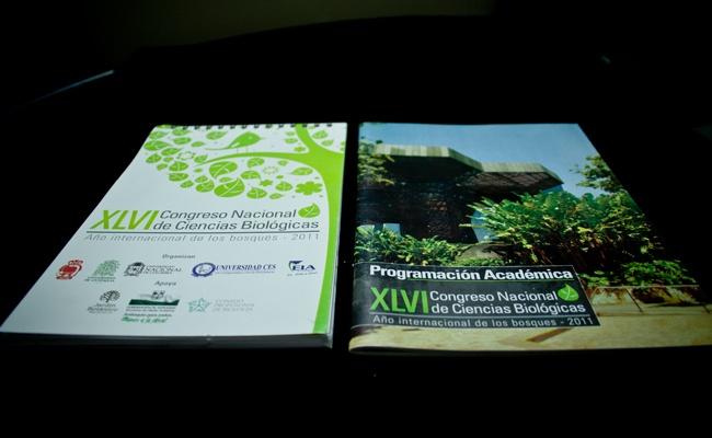 Libretas y Memorias Congreso Nacional Ciencias Biologicas