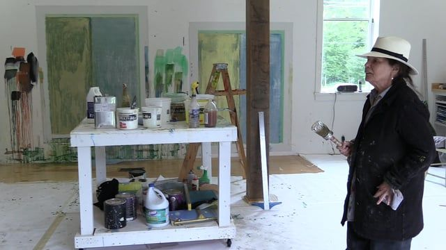 Pat Steir: Painting in Vermont | www.artspace.com/pat_steir