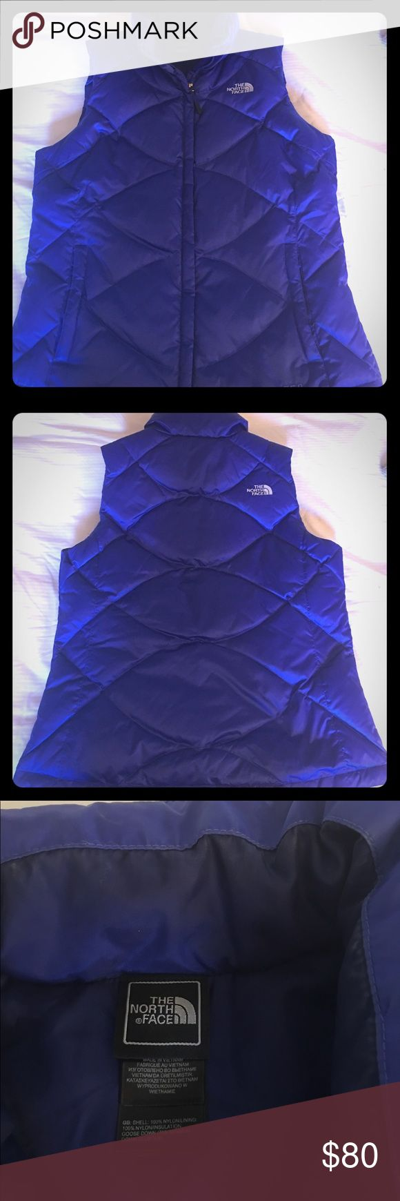 North Face Vest NWOT Perfect condition North Face Vest. Rare Beautiful Royal Blue color. The North Face Jackets & Coats Vests
