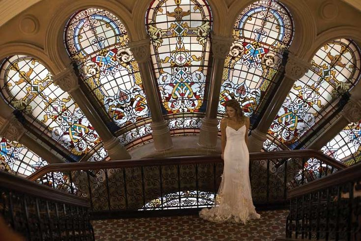 Stained glass window at the Tea Room QVB, Sydney. #weddingvenue