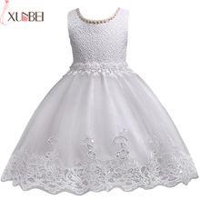 Precioso Encaje Apliques Con Cuentas Vestidos de Niña Niños Vestidos de Noche Para La Boda Vestidos de Primera Comunión vestido comunion