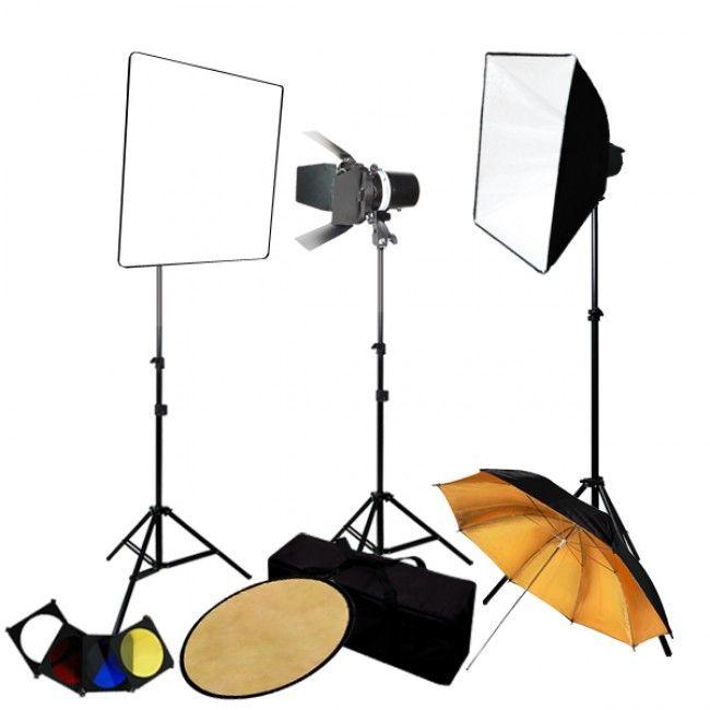 Photography 3-Monolight Strobe Softbox Flash Lighting Kits w/ Barndoor Reflector u0026 Case  sc 1 st  Pinterest & 31 best Softbox Lighting Kits images on Pinterest | Softbox ... azcodes.com