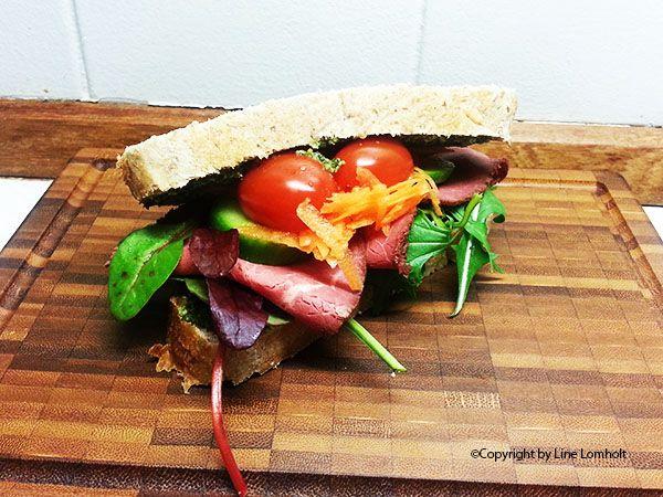 Roastbeef - pesto sandwich