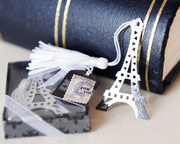 Marturii de nunta semn de carte Paris
