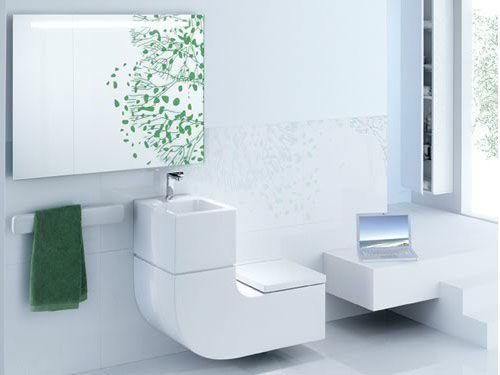 """Diseños con doble función (II): El Lavabo-inodoro, la suma para ahorrar agua y espacio. La última vez os hablamos de un inodoro-bidé-banco. Esta vez el diseño que os queremos enseñar es tiene """"solo"""" dos funciones: La de lavabo y la de inodoro, la suma indispensable para ahorrar agua y espacio, según comenta ROCA, quien comercializa el diseño  http://blog.planreforma.com/disenos-con-doble-funcion-ii-el-lvabo-inodoro/"""