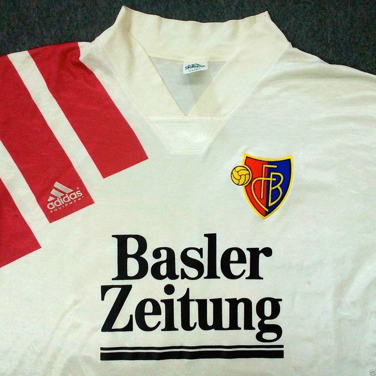 VINTAGE ADIDAS Fc Basilea 1893 Swiss Basler Zeitung FOOTBALL SHIRT JERSEY TRIKOT #30