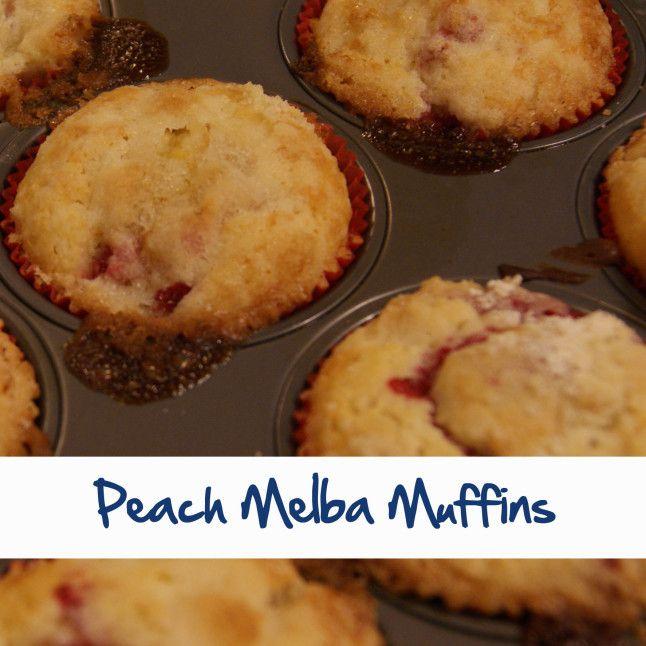 Peach Melba Muffins