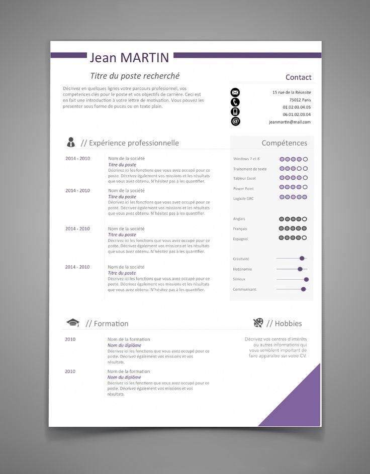 Retrouvez en image nos modèles de CV Word, gratuits, à télécharger librement, en espérant que cela va vous permettre de trouver un emploi,...