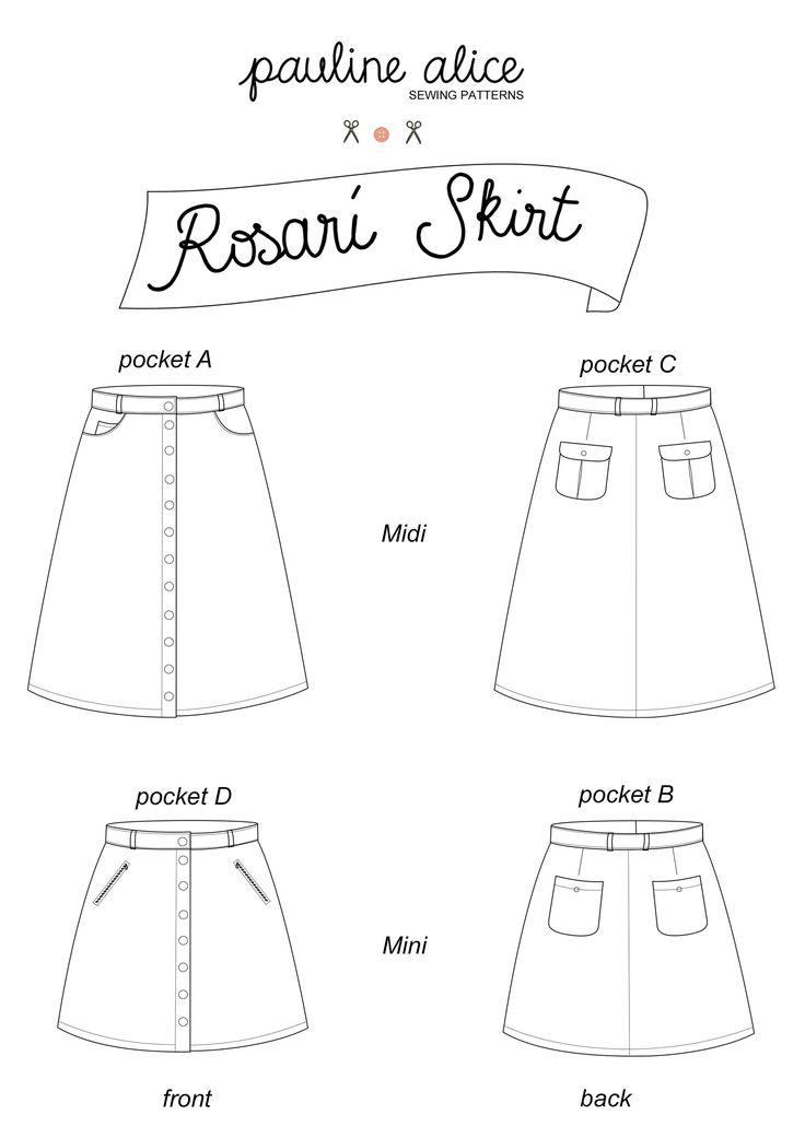 Patron de couture Pauline -Alice - Jupe Rosari - Pauline Alice sewing patterns - Rosari skirt