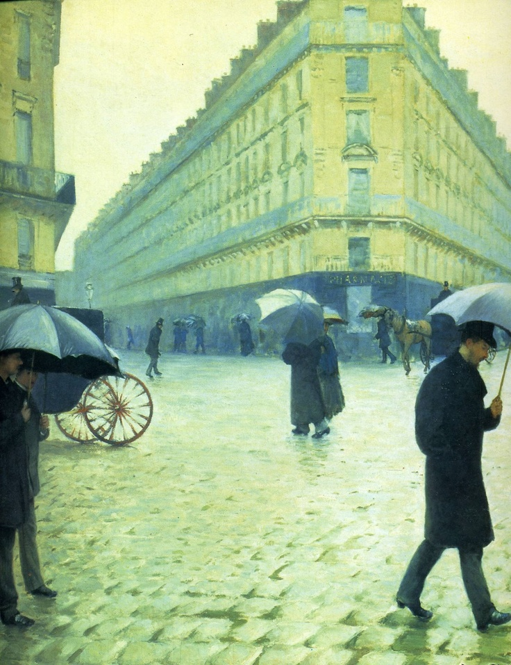 "gustave caillebotte paris street rainy day essay Even the curators of the gustave caillebotte retrospective  though caillebotte painted numerous views of haussmann's paris, ""paris street, rainy day"" is the."