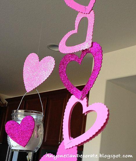 DIY Valentine's Hanging Candle Art