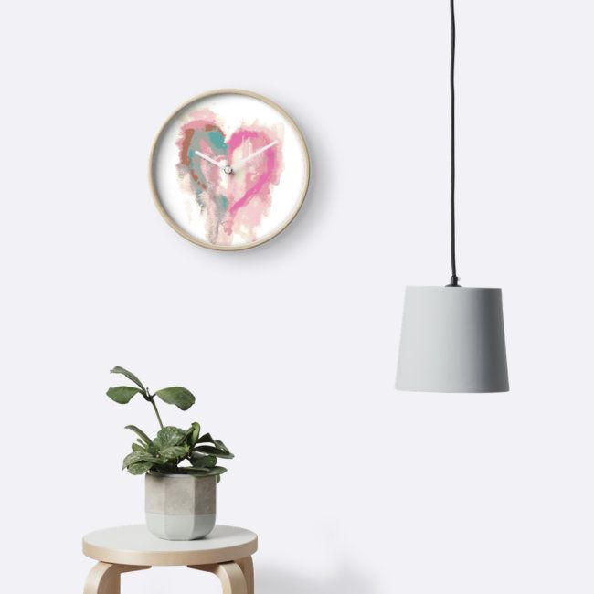 Abstract Heart Watercolor Painting - Design by Doodles Mania on Redbubble