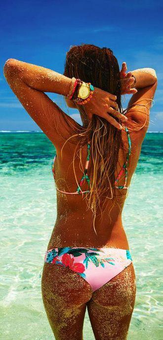 Alana Blanchard Beach Bikini
