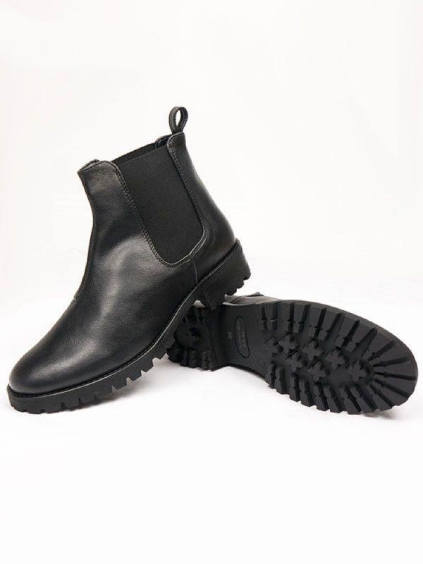 770bb5c4a7a Womens Vegan Deep Tread Chelsea Boots In Black