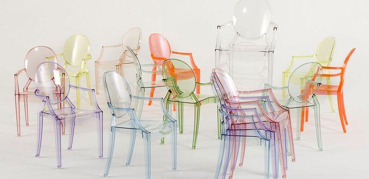 Louis Ghost sedia design di Kartell, design Philippe Starck