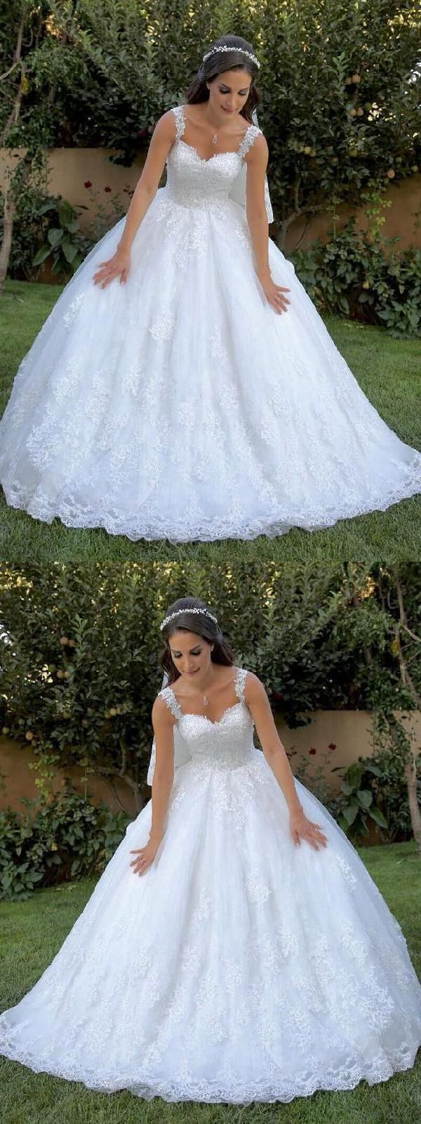 Outlet Glorious Wedding Dress White, Simple Wedding Dress, Wedding Dress Ball Gown, Lace Wedding Dress