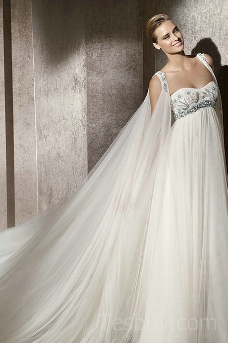 Empire waist wedding dresses pregnant belly