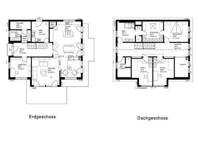 this is the floorplan for the german house i've pinned on my Home board...nice house, not sure what all the extra rooms are upstairs, but i like the layout