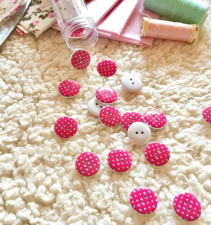A personal favorite from my Etsy shop https://www.etsy.com/listing/507683851/10-pink-hearts-wooden-buttons